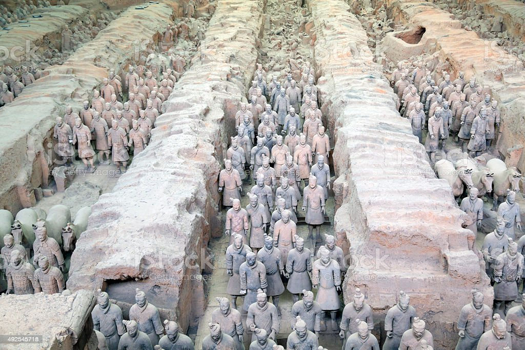 Terracotta Warriors in Xian, China stock photo