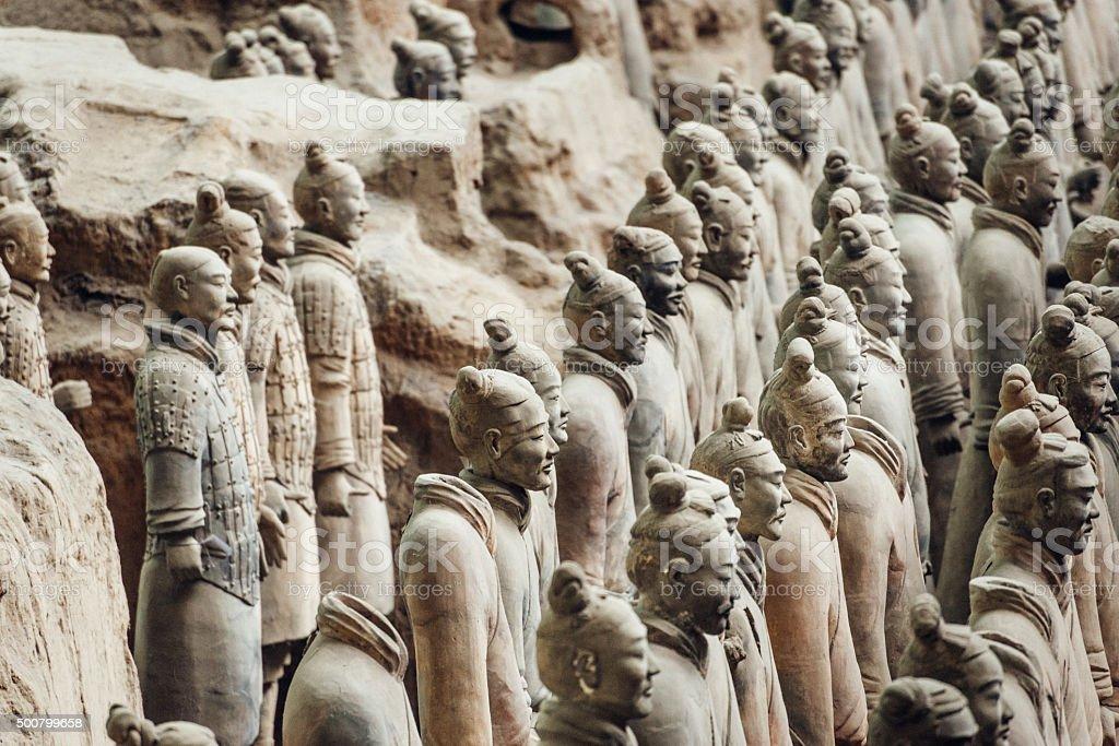 Terracotta Warriors in Xian, China stock photo