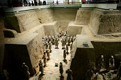 'One of the top tourist attractions in China, the terracotta warriors, discovered in 1974.See more photos of the Terracotta Warriors in lightbox below'