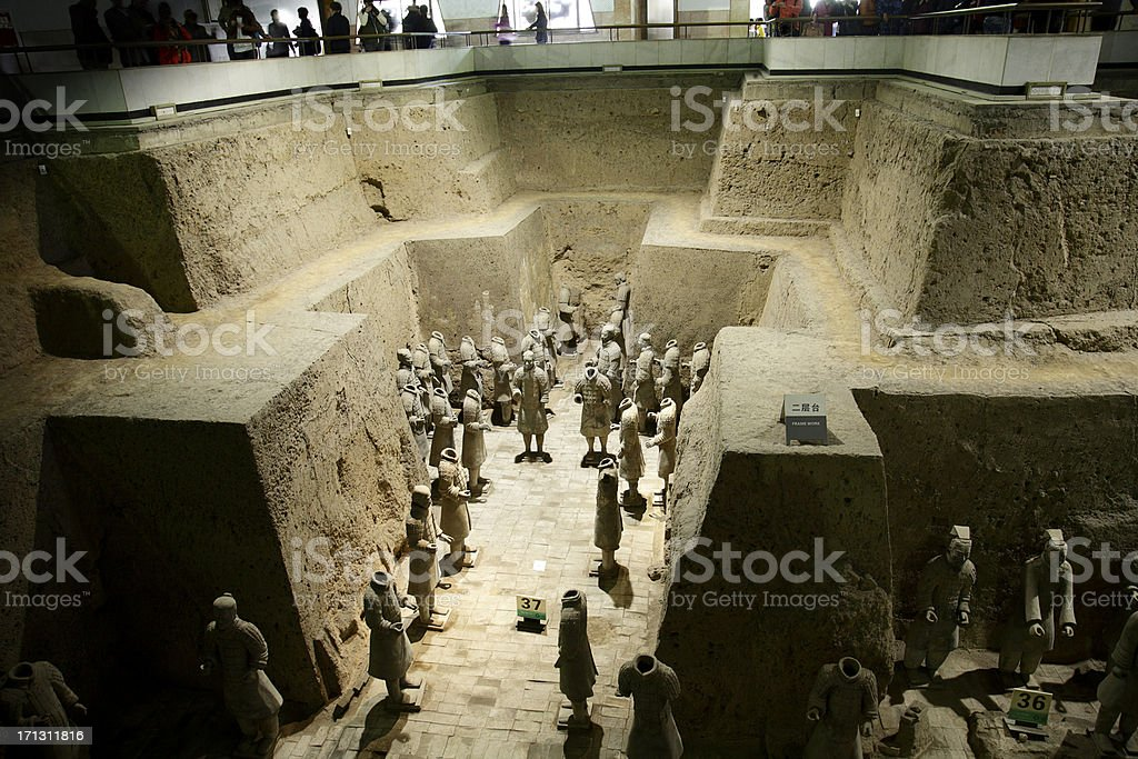 Terracotta Warriors in Xi'an stock photo