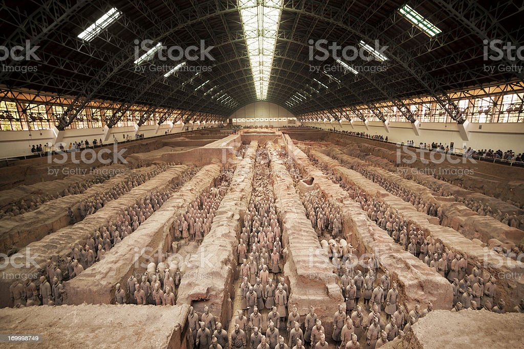 Terracotta warriors of Xian China stock photo