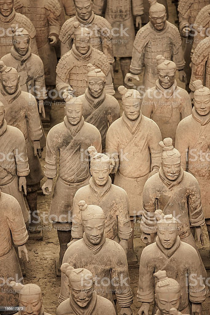 Terracotta warriors of Xian China stock photo