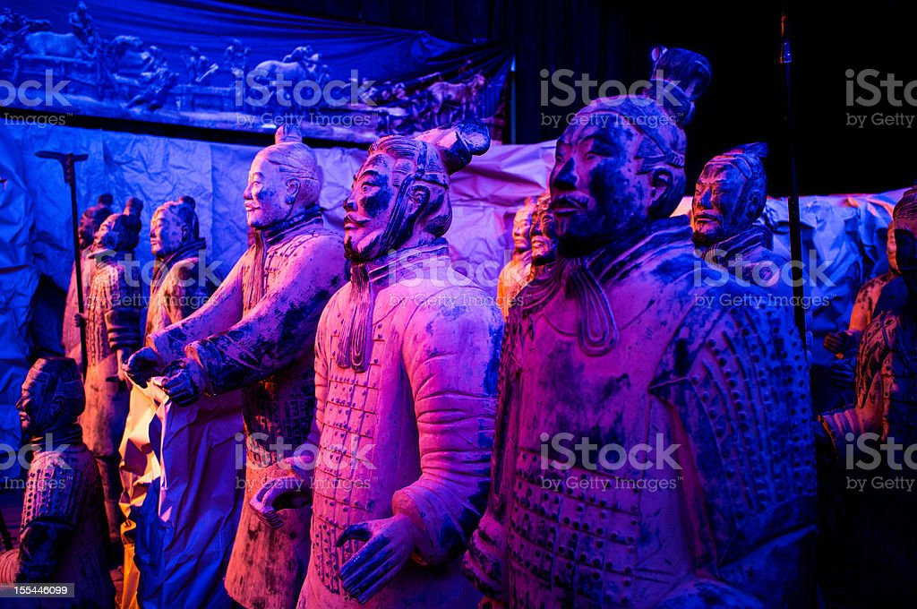 Terra-cotta warriors of Xi'an royalty-free stock photo