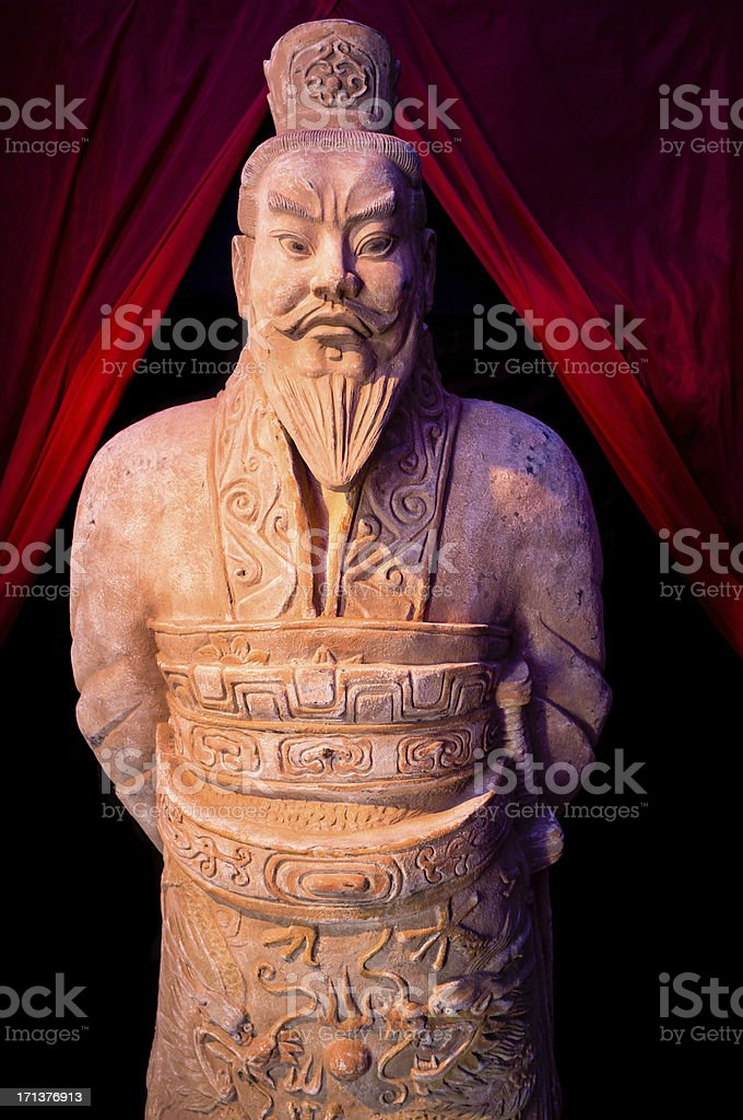 Terra-cotta warriors of Xi'an stock photo