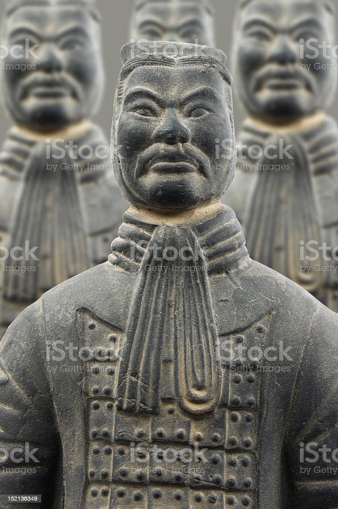 Terra-cotta warriors royalty-free stock photo
