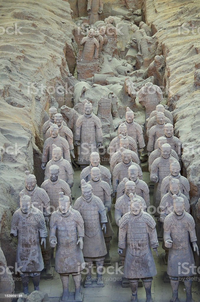 Terracotta warriors - XiAn, China royalty-free stock photo