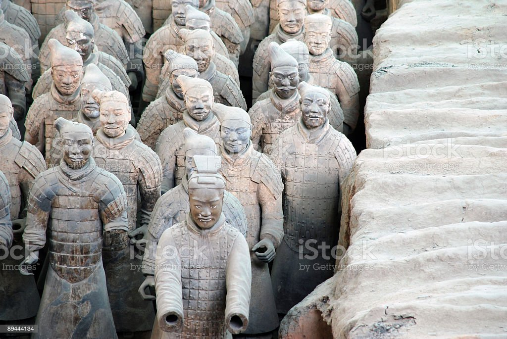 Terracotta warriors1 royalty-free stock photo