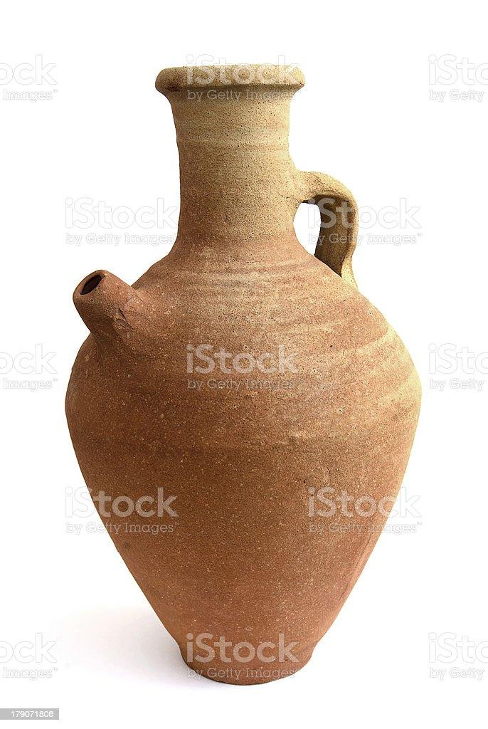 Terracotta water jug royalty-free stock photo