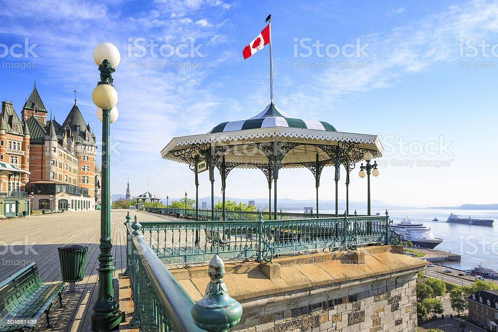 Terrasse Dufferin, Quebec City. royalty-free stock photo