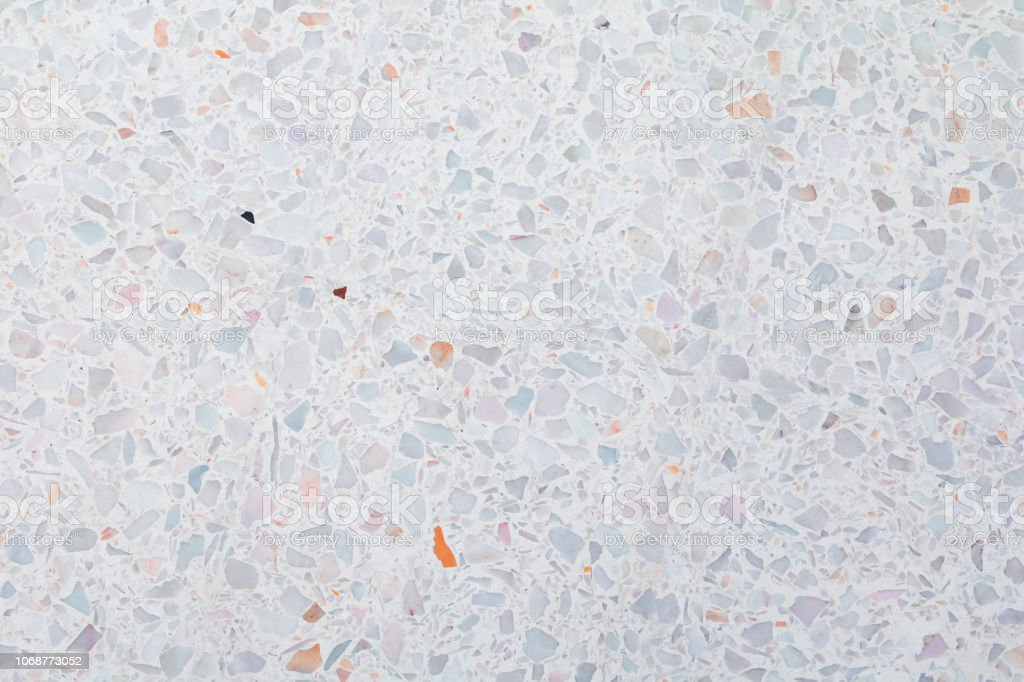 Terrazzo Flooring Or Marble Old Polished Stone Texture