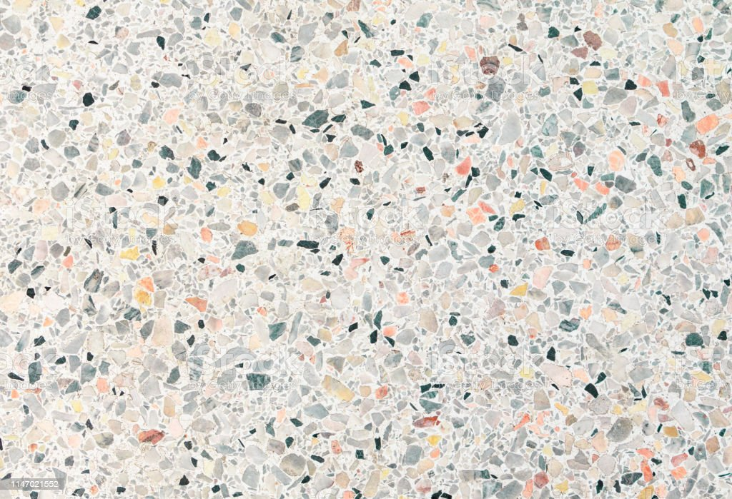 Terrazzo Flooring Texture And Color Small Stone Polished