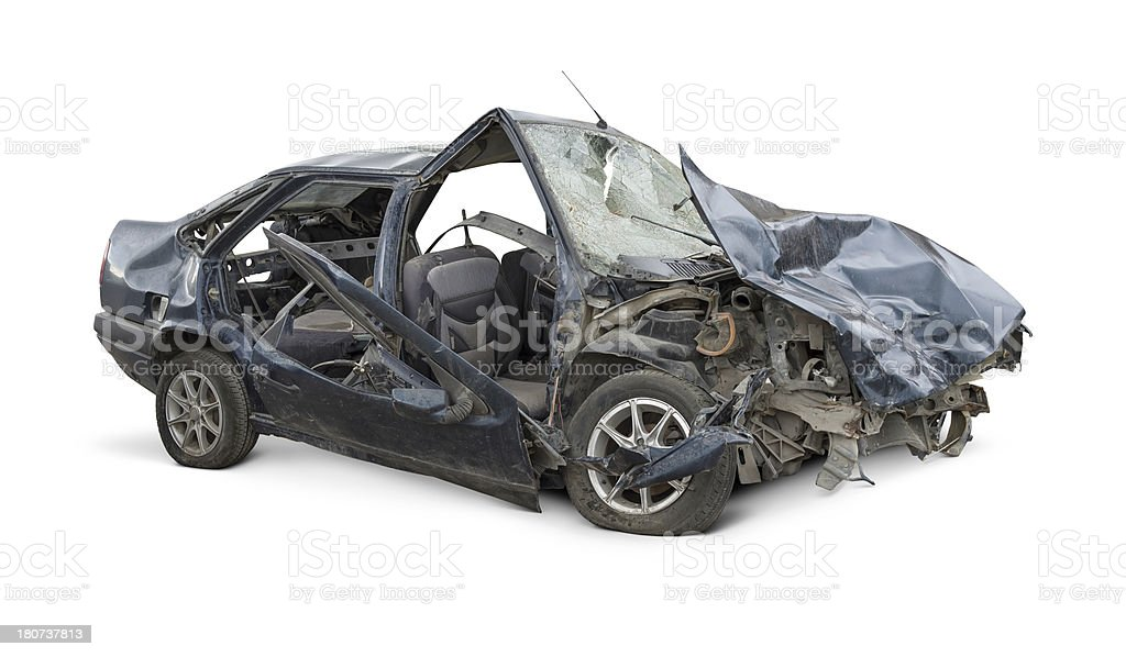 Terrible Crash stock photo
