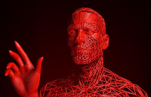 istock Terrible Interactive Cyborg 880288336