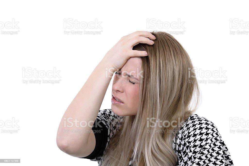 terrible migraine royalty-free stock photo
