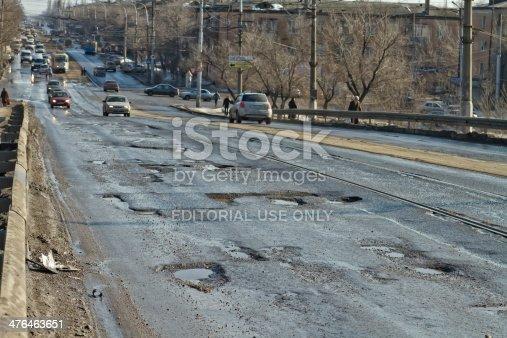 istock Terrible pavement or the lifting bridge 476463651