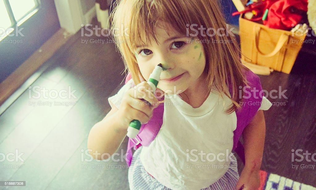 Terrible two's stock photo