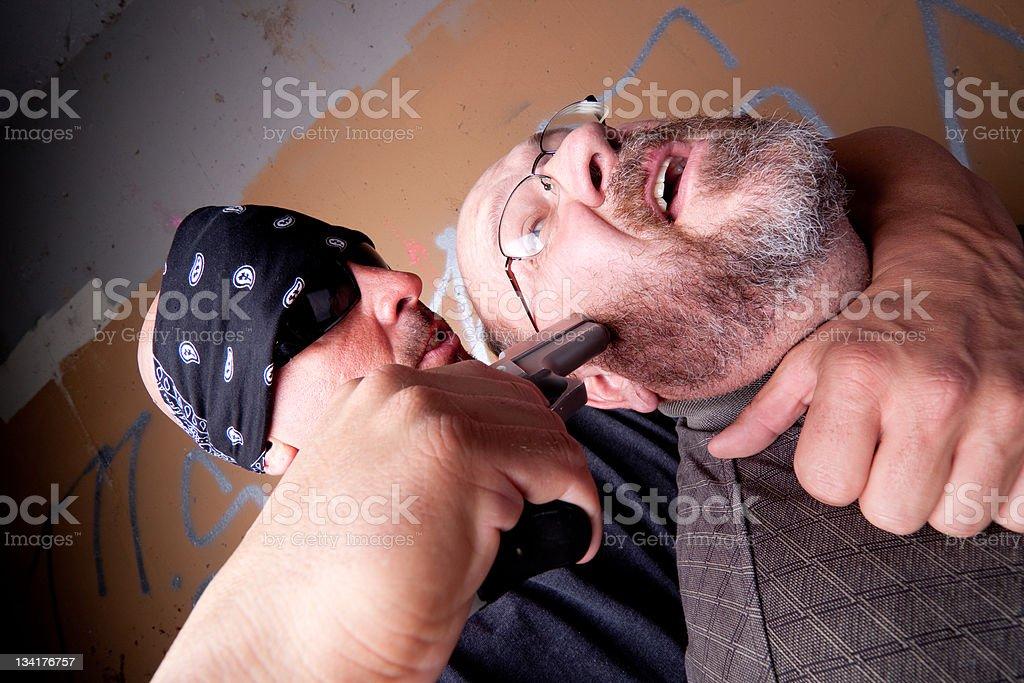 Terrified Hostage royalty-free stock photo