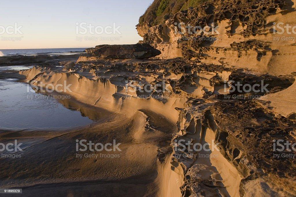 Terrigal Rock Pools & Headland royalty-free stock photo