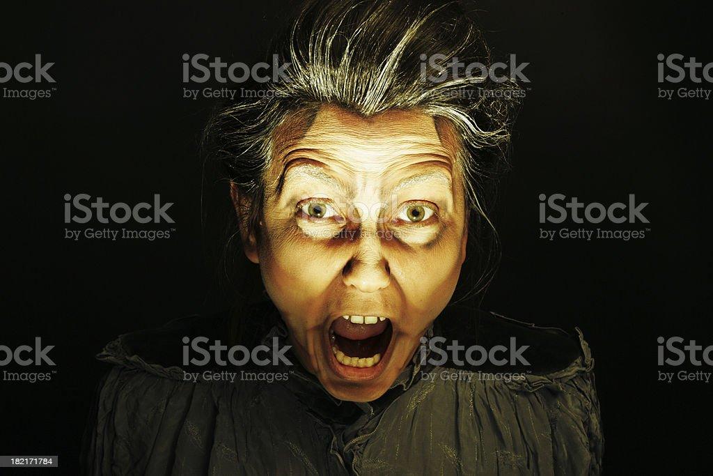 Terror scream royalty-free stock photo