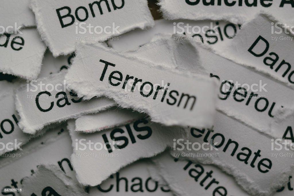 Terrorism concept stock photo