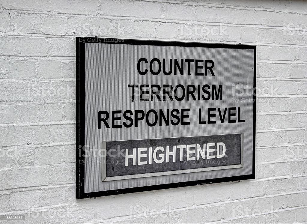 terrorism warning stock photo