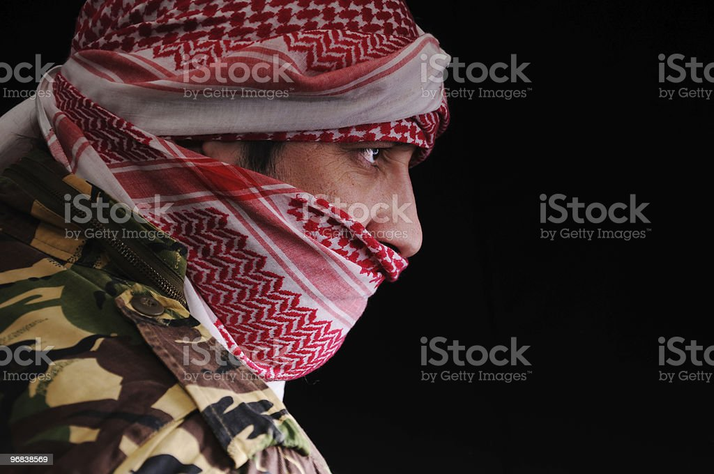 terrorist man stock photo
