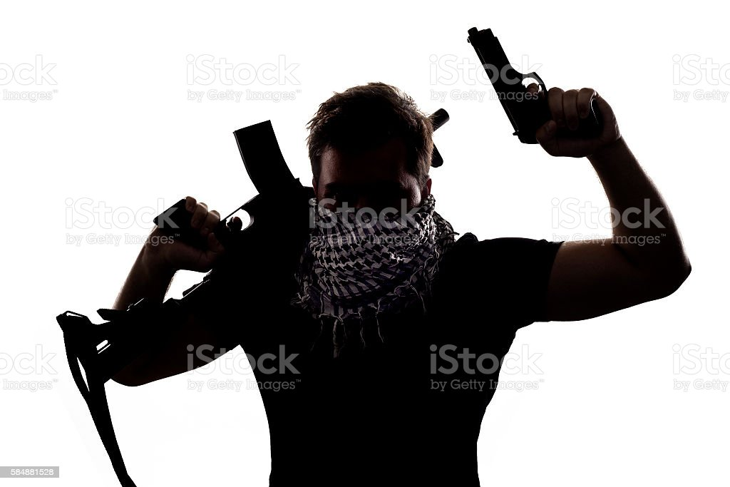 Terrorist or Special Operations Soldier stock photo