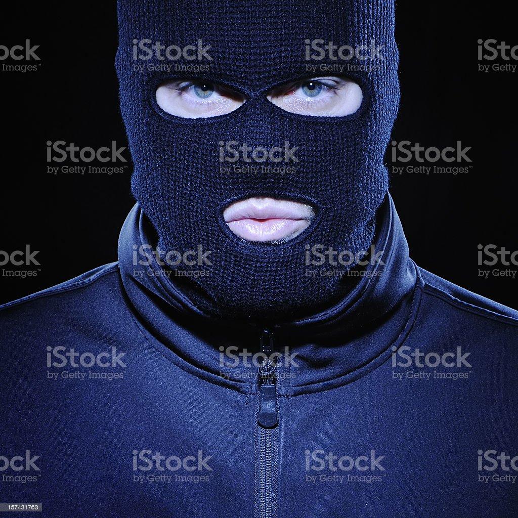 Terrorist or thief stock photo