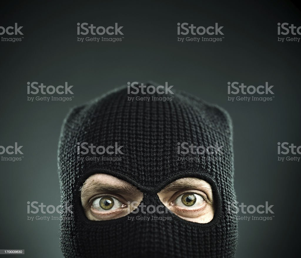 Terrorist portrait stock photo