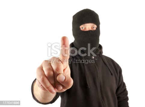 istock Terrorist pushing the virtual button 177041695