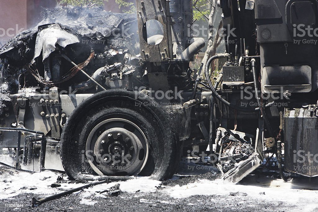 Terrorist Truck Bomb Explosion Disaster royalty-free stock photo