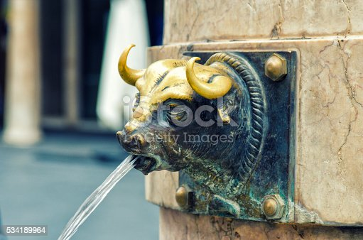 istock Teruel, Spain. El Torico fountain in Plaza Carlos Castel. 534189964