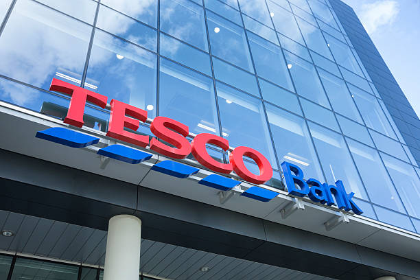 Tesco Bank Offices, Glasgow Glasgow, UK - April 17, 2012: Sign outside the Tesco Bank offices on Renfield Street in Glasgow city centre. theasis stock pictures, royalty-free photos & images