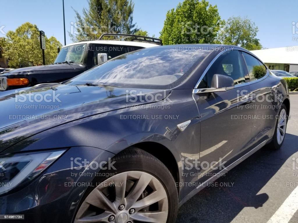 Tesla Automobile foto stock royalty-free