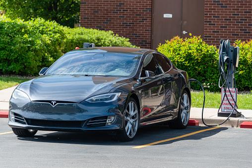Tesla Charging Station Stock Photo - Download Image Now