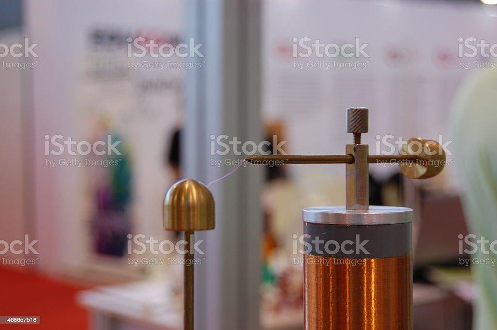 Tesla coil stock photo
