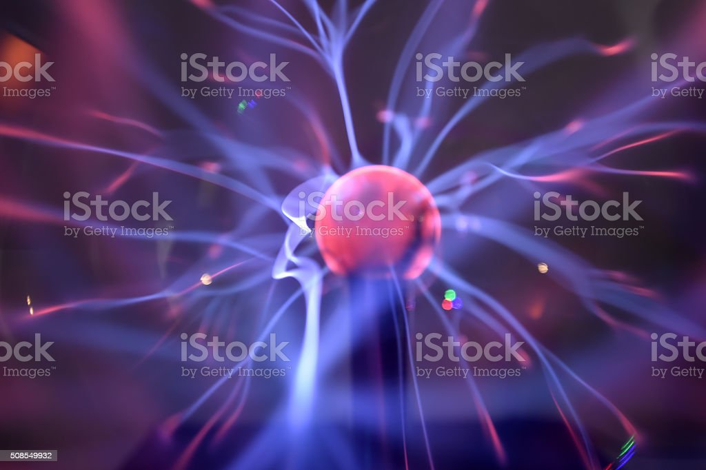 Tesla coil stock photo