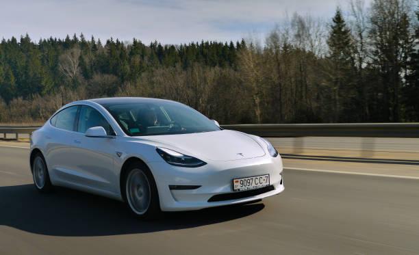 Tesla Model 3 Performance stock photo