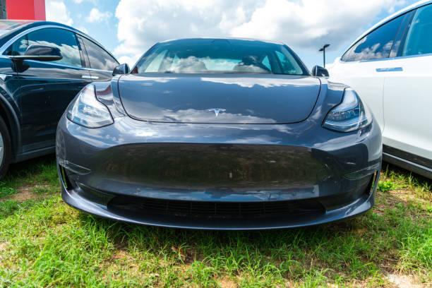 Tesla Model 3 stock photo
