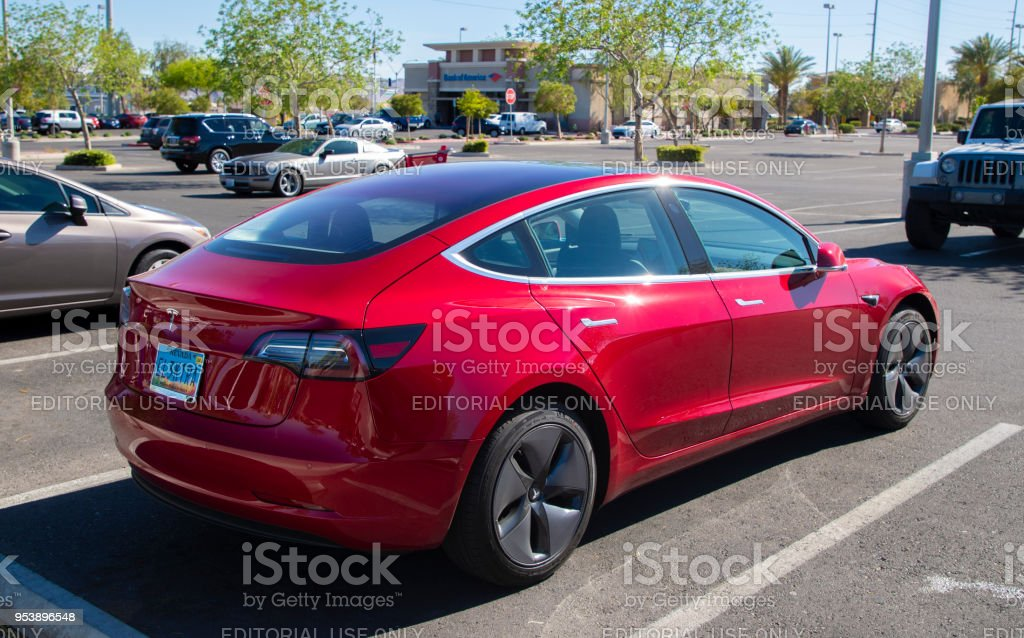 Tesla Model 3 stock photo