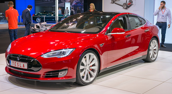 Tesla Model S P90d Full Electric Luxury Car Stock Photo - Download Image Now
