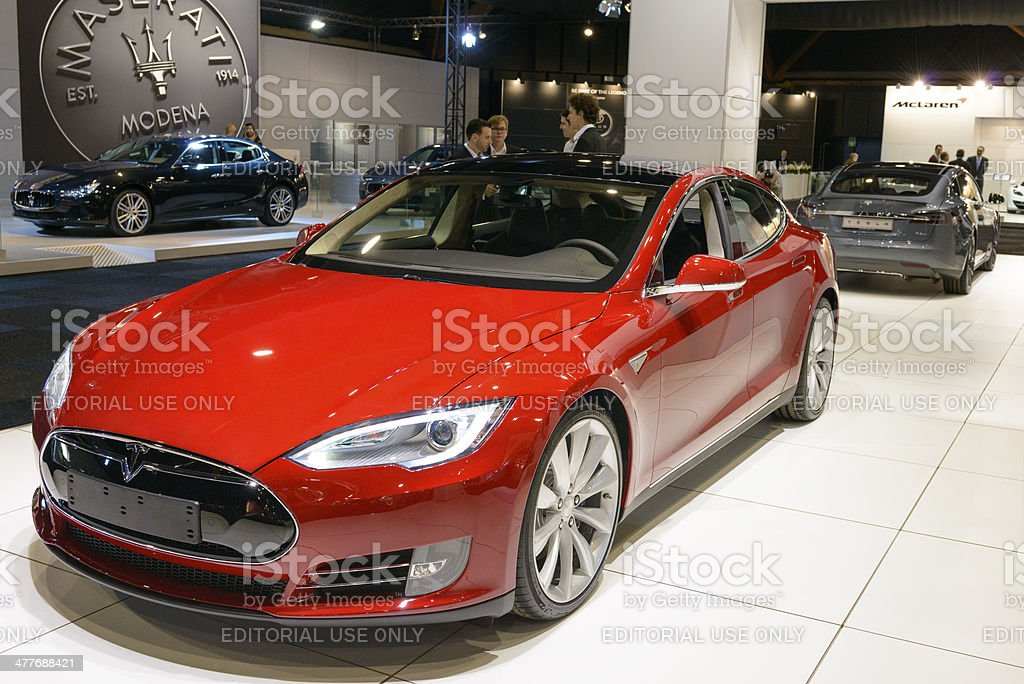 Tesla Model S royalty-free stock photo