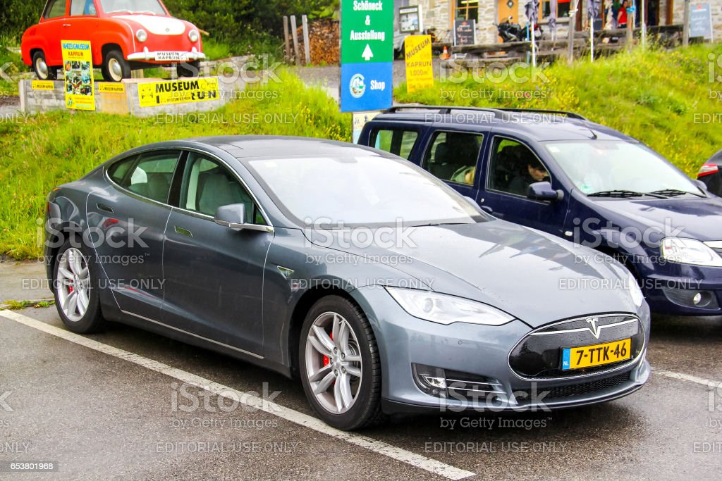 Tesla Model S stock photo