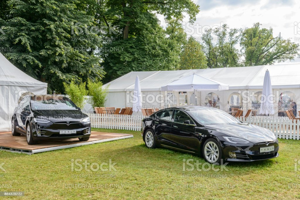 Tesla Model X And Model S Allelectric Cars In Black Stock Photo