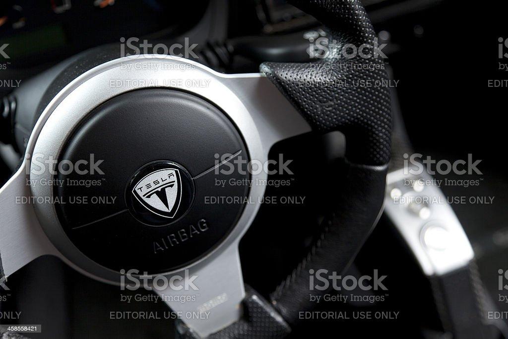 Tesla Roadster stock photo