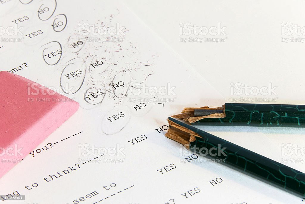 Test Anxiety stock photo