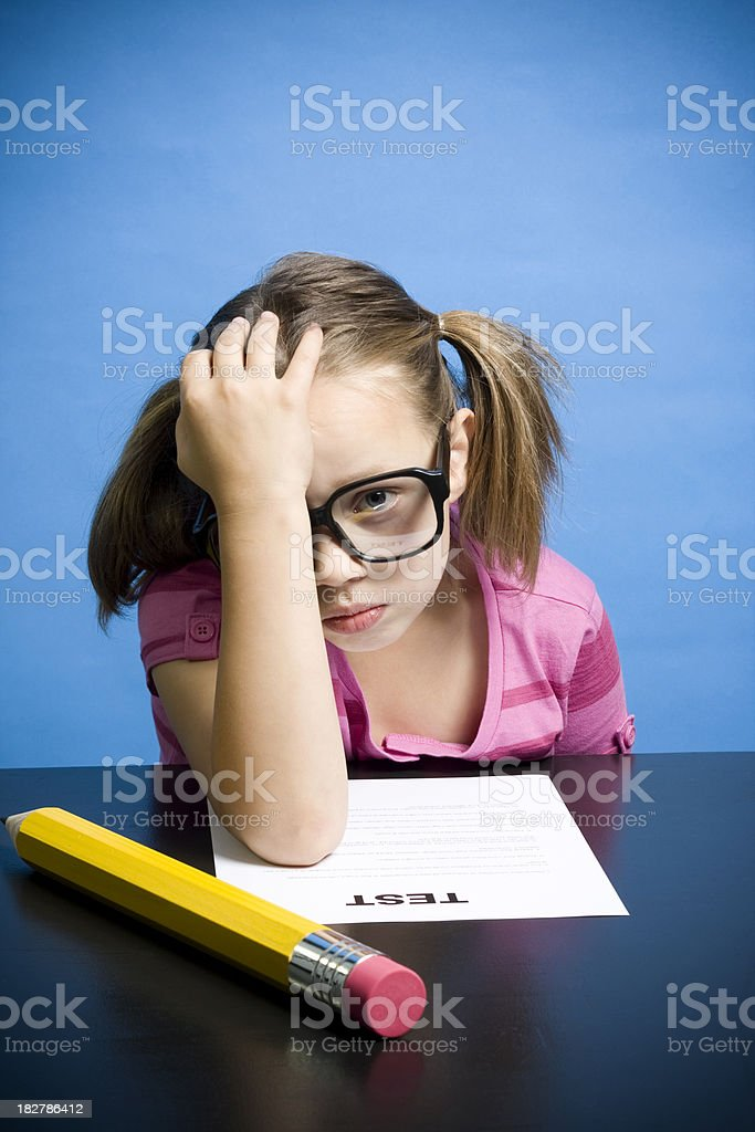Test Anxiety royalty-free stock photo