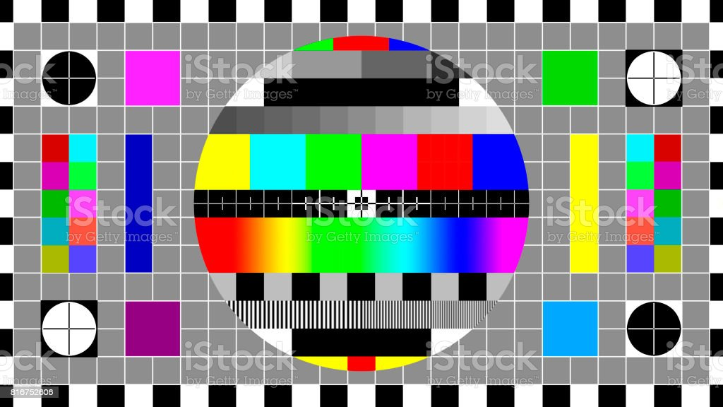 TV test card or test pattern. Generic. stock photo