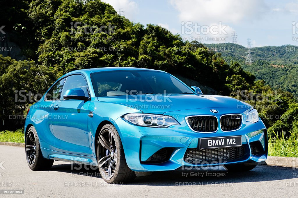 BMW M2 2016 Test Drive Day Hong Kong, China June 27, 2016 : BMW M2 2016 Engine on June 27 2016 in Hong Kong. BMW Stock Photo