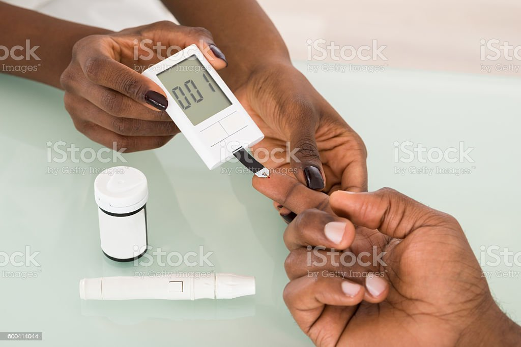 Test For Diabetes royalty-free stock photo